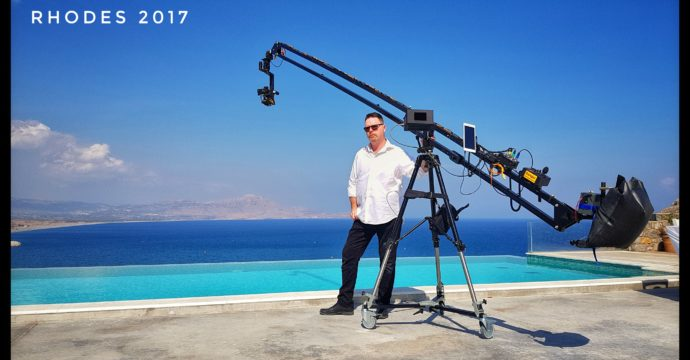 Jibz TV on location at Ktima Lindos, Rhodes.